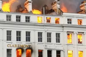 Claremont Hotel fire, photo by Jimmy Gomes
