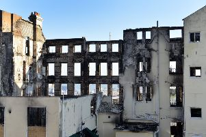 Claremont Hotel Fire Eastbourne (Photo by Jon Rigby) SUS-190512-101455008