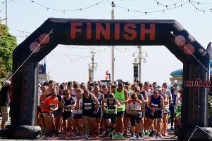 The start of the Eastbourne 10k last year