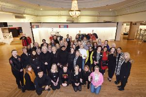 Last day of trading at Debenhams in Eastbourne.''Staff photo before the store opened for the last time. SUS-200119-122646001