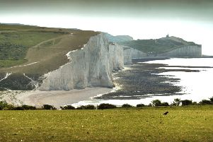 Seven Sisters cliff taken from South Hill Barn, Seaford. SUS-190522-122305001
