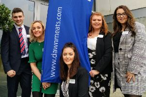 The CAFRE Loughry team who took part in the Great Agri-Food Debate in Waterford Institute of Technology