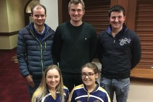 Moycraig YFC members at the County Big Night which was held in the Tullyglass Hotel