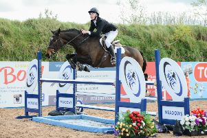 Dominic McArdle riding Kilcolgan Clover Skye, equal first in the 1.10/1.20m COH