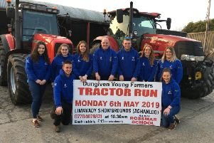 Members of Dungiven YFC are looking forward to their May Day tractor run