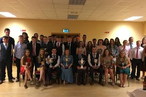 Collone YFC members pictured with guest speaker George McCall at their annual club dinner