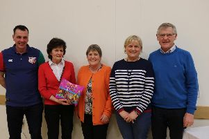 Prize winners at the table quiz