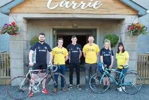 Six members from Kells and Connor Young Farmers' Club will be taking on a challenge  on August 16, to cycle 600 miles, across six days and around the six counties in Northern Ireland