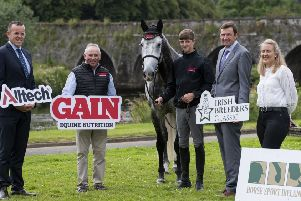 Neil Keane (Alltech), Michael Phillips (GAIN Equine Nutrition), Jack Ryan (2018 Winner), Ronan Rothwell (Irish Breeders Classic), Sophie Dalton ( Horse Sport Ireland) Photocredit: BitMedia