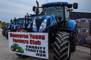 Moneyrea Young Farmers' Club hold their tractor run
