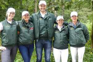 The Irish Dressage team of Kate Dwyer, Heike Holstein, Milan Djordjevic  (Irish Dressage Chef d'Equipe),  Judy Reynolds and Anna Merveldt pictured in Rotterdam where they secured Olympic qualification