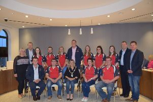 Club committee and office bearers pictured with the Lord Mayor of ABC Council