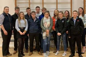 Cookstown YFC pictured at the Tyrone and Fermanagh Heats of the YFCU Public Speaking competition.