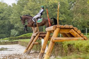 Elizabeth Power with Shannondale Mari (ISH) bred by Martin Walsh and owned by Sarah Hughes took 8th place in the 6-year-old competition at the FEI WBFSH World Breeding Eventing Championships for Young Horses 2019 at Le Lion d'Angers in France  (Photo: Pam Cunningham/Irish Eventing Times)