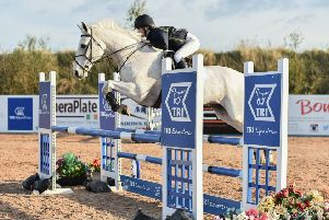 Zara Sharvin riding Ruby from Down High School, winners of the Premier Individual