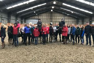 CAFRE Enniskillen Campus Level 3 Year two students meet members of Enniskillen Riding for the Disabled Association.