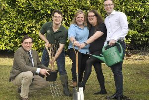 YFC members from NFYFC's Council  (l-r) David Goodwin from Warwickshire, Vice Chairman Dewi Parry from Clwyd, Katie Hall from Gloucestershire, Lucy Stowell from Norfolk and Marcus Bailey from Essex