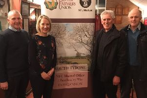 Left to right: Philip Marshall,  Architect from Henry, Marshall Brown Architectural Partnership, Aileen Lawson, UFU Senior Policy Officer, Jim Patton Member & Eric Coote, South Tyrone UFU Vice Chairman