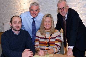 New AgriSearch Trustees Martyn Blair and Joanne Dobson pictured with AgriSearch Chairman, John Henning, back right and Vice Chairman, Seamus McCaffrey, back left.