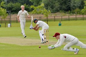 Adil Ali, pictured in action for Kibworth, has impressed for Leicestershire in pre-season