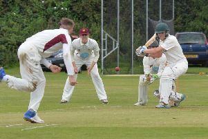 Alec Hill just missed out on a half-century in Lutterworth's defeat