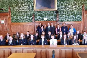 The students at the Houses of Parliament