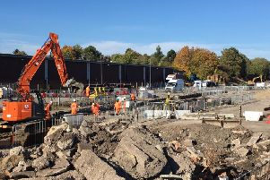Network Rail engineers have been carrying out work at Market Harborough station