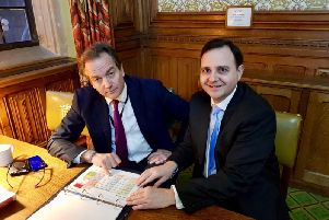 From left, the Minister for Policing, the Rt Hon Nick Hurd MP, and Alberto Costa MP