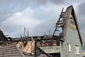 The aftermath of the fire at The Roebuck.