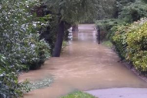 The flooding.