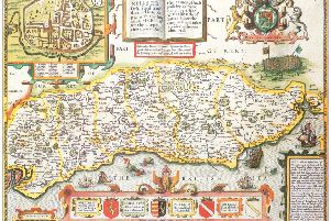 Extracted from Britain's Tudor Maps by John Speed, published by Batsford. SUS-161020-101827001