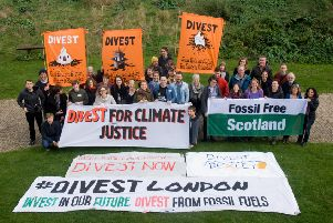Members of organisations from East Sussex and across the UK at the first UK-wide gathering of fossil fuel divestment campaigners. Photo courtesy of Fossil Free Hastings SUS-161024-184459001