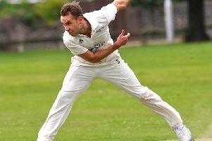 Broadwater seamer James Salisbury took three wickets in Saturday's win. Picture by Stephen Goodger