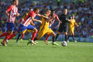 Anthony Knockaert returned from injury and played the last 20 minutes against Atletico Madrid. Picture by PW Sporting Pics