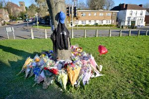 Floral tributes left in memory of Connor SUS-171129-162541001