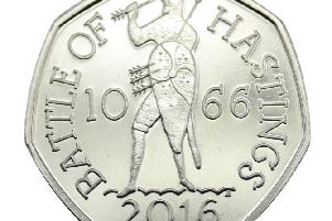 The commemorative coin. Picture from www.coingallery.co.uk SUS-160101-122313001