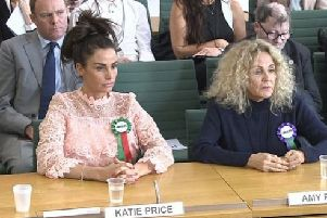 MP Nick Herbert with Katie Price and Katie's mother Amy SUS-180702-110451001