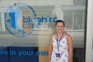 Charlotte Levett, of Bluebird Care Rother and Hastings SUS-180308-121804001