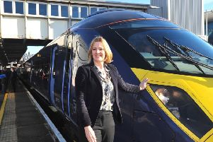 30/1/15- Railways Minister Claire Perry visiting Amber Rudd's Rail Summit.  Amber Rudd SUS-180830-091631001