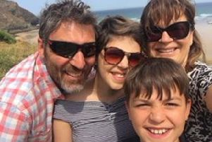 Baggott family selfie. Picture contributed