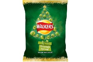 The Brussels sprouts-flavoured crisps by Walkers