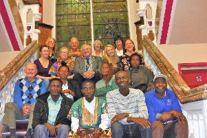 The teachers from the Hastings area and Sierra Leone pictured with Mayor.