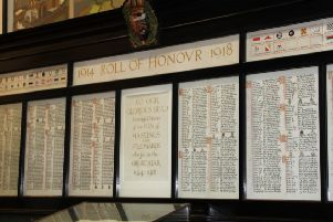 The Roll of Honour in Hastings Town Hall SUS-180911-072950001