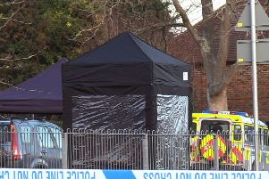 A man has died after a stabbing in Barn Cottage Lane, Haywards Heath. Photo by Eddie Mitchell