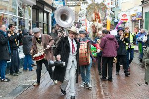 Hastings Fat Tuesday saw 14,000 revellers join in the celebrations across five days in 2018. Photo by Frank Copper