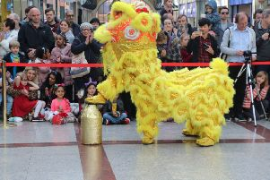 Chinese New Year celebration in Priory Meadow. Photo by Roberts Photographic SUS-190218-072806001