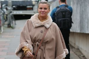 Kerry Katona on her way to Brighton Magistrates' Court. Photograph by Eddie Mitchell