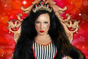 Carli Norris in Snow White at the Royal Hippodrome Theatre