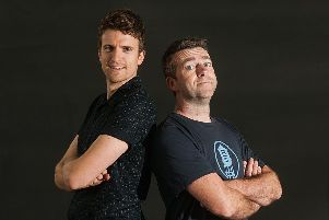 Greg James and Chris Smith. Picture: Getty Images SUS-191203-171507001