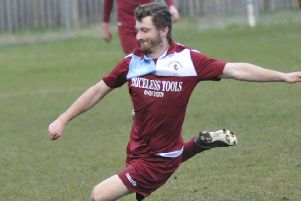Adam Smith scored Little Common's goal in the 5-1 defeat away to Chichester City